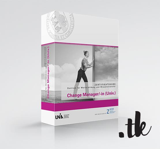 "Box MockUp for Certification Course ""Change Manager""; Client: ZWW, Universität Augsburg"
