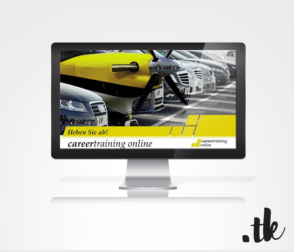 Mock Up iMac of Platform, Corporate Identity for careertraining, corporate design by tanja kaiser