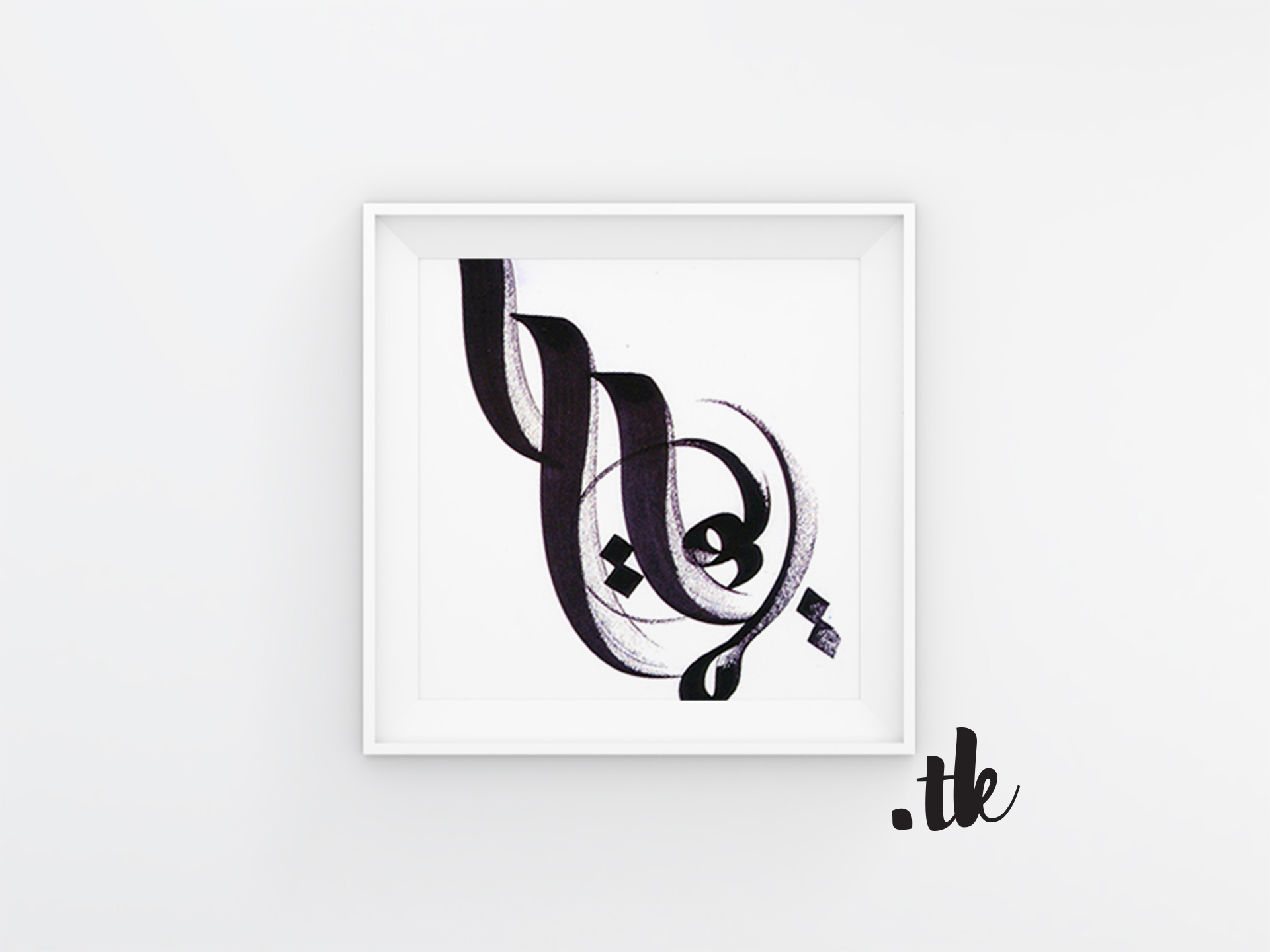 Mock Up of calligraphy in frame, black color, arabic calligraphy by Tanja Kaiser