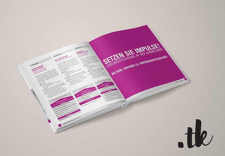Mock Up of open Brochure, Editorial Design Sample