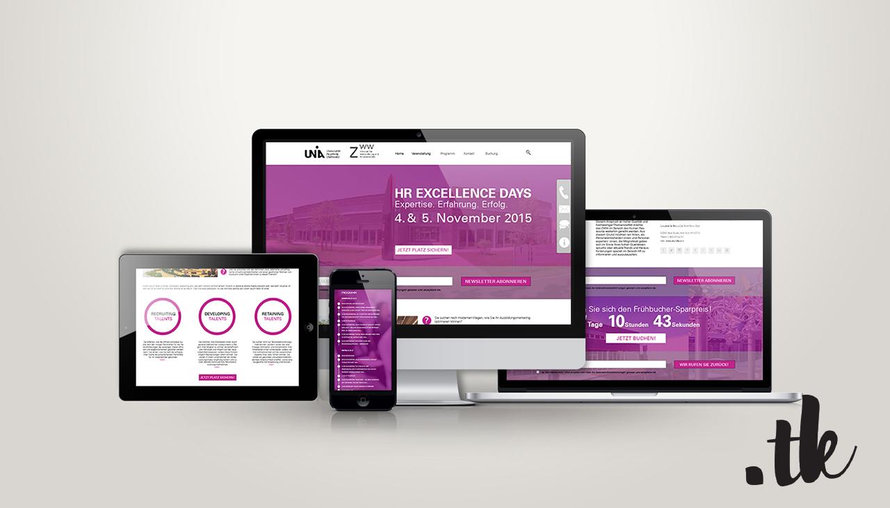 Responsive Web Design Website all devices alle Endgeräte ZWW Universität Augsburg Webdesign